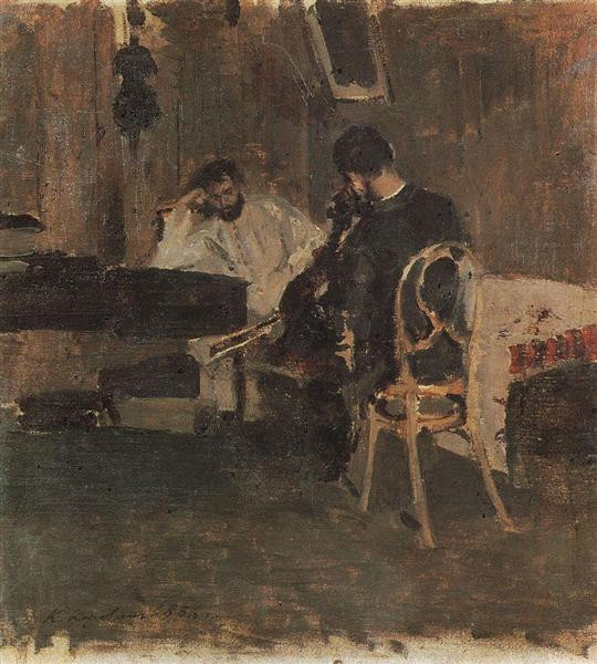 in a room 1886 the tretyakov gallery moscow russia